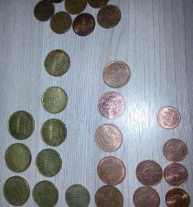 Евро центы на обмен
