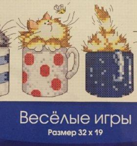 Набор для вышивания крестиком Котята