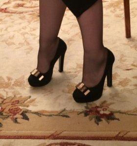 Туфли жён набук