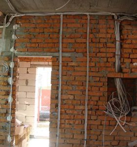 Установка, ремонт и замена электропроводки  и др