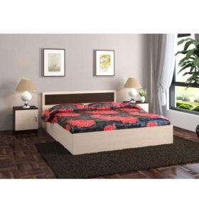 Кровать+ основание + матрас нов.