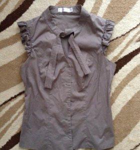 Блузка приталенная