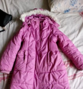 Зимняя куртка для девочки 7-8 лет