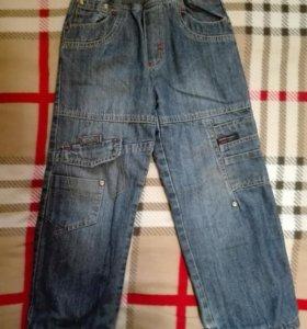 Теплые джинсы на 110, рост