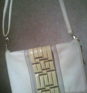 Бежевая сумка за 2 киндера