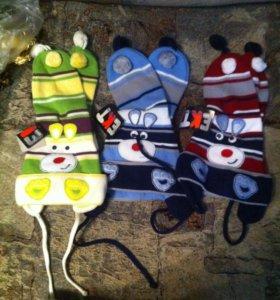 шапочки детские новые