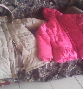 Куртки теплые пуховички для девочек
