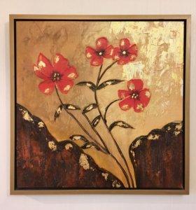 """Картина на холсте """"Осенние цветы"""""""