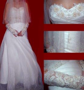 Свадебное платье + аксессуары