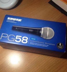 Микрофон SHURE PG58-QTR