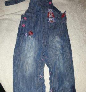 Комбинезон  джинсовый тёплый