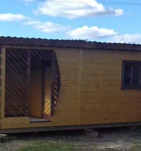 Дачный домик с верандой 6-метровый