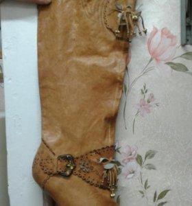 Сапоги осенние кожаные