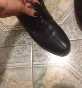 Свадебные кожаные туфли