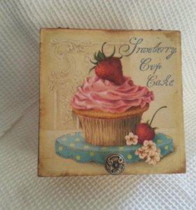 Шкатулка для чайных пакетиков/конфет (подарок на л