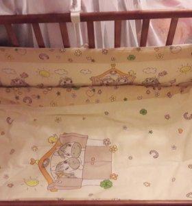 Комплект в кроватку Лошадки