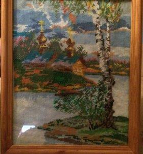 Картина Часовня у реки