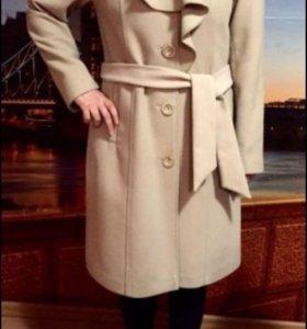 Пальто шерсть кашемир новое