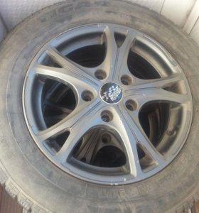 Зимние шины + диски R 15