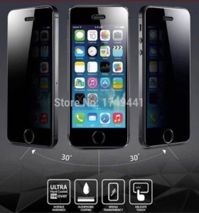 Защитное стекло антишпион iPhone 5 /5s