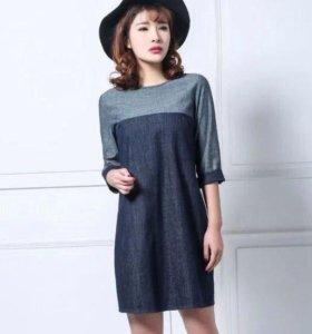 Джинсовое платье
