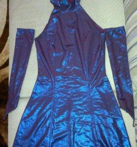 Платье с перчатками