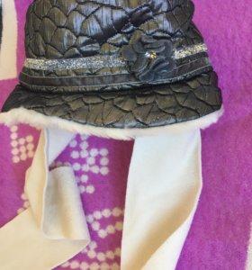 Шляпка+флисовый шарф 2 в1