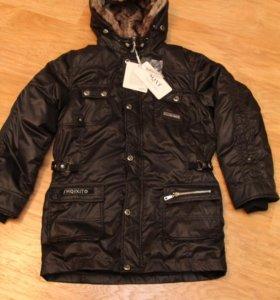 Новое зимнее пальто для мальчика. На рост 146-152