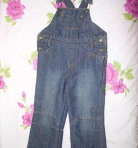 Полукомбинезон для мальчика джинсовый
