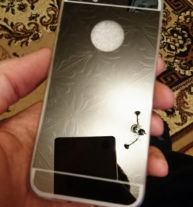 Чёрный зеркальный чехол iPhone Айфон 5/5s/6/6s