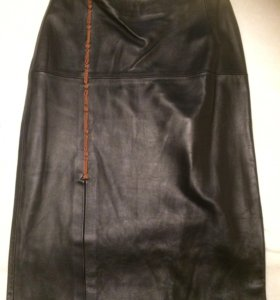 Новая Кожаная юбка р46