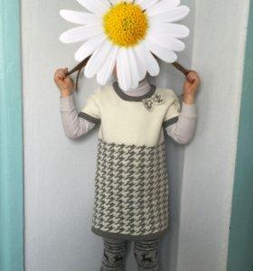 Платье трикотажное.машинная вязка
