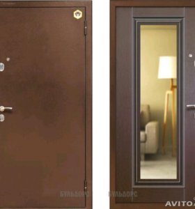 Входная дверь с зеркалом Бульдорс-12Т г. Казань