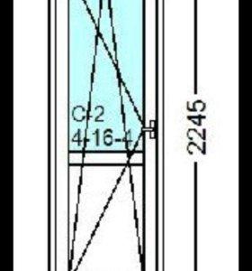 Балконная дверь rehau blitz 718x2245