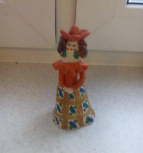 Кукла в технике керамика