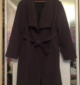 Осенние сиреневое пальто. Размер 52-54