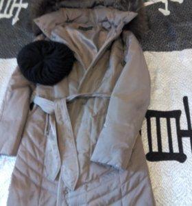 Пуховик/ пальто  + шапка в подарок