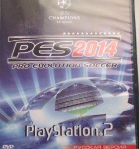 Футбол PES2014 на PS 2не лицензия