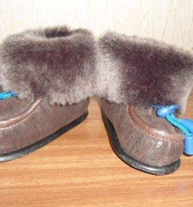 Меховые ботиночки. Новые
