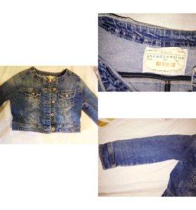 Укорочённая джинсовая куртка