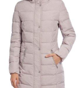 Теплое женское пальто в клеточку