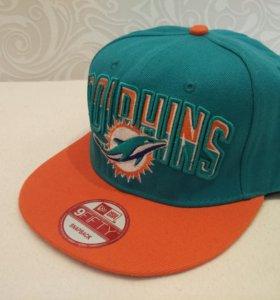 Кепка SnapBack. Miami Dolphins NFL. NewEra