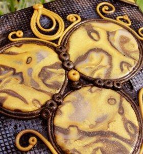 Портсигар металлический декорированый