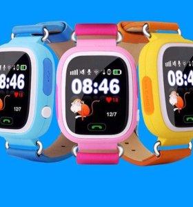 Детские часы телефон с gps Q80 в наличии Кемерово