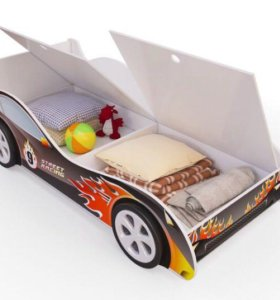 Новая Кроватка-машинка с ящиками