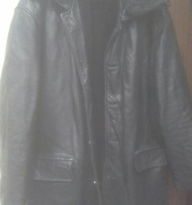 Кожаная мужская куртка 52-54