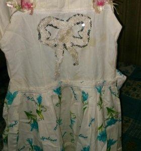 Платье на 7-9 лет