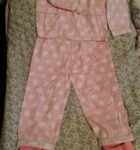 Пижама+ тапочки (все Mothercare )