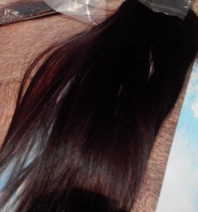 Волосы на заколках трессы