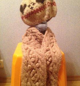 Шапочка Беретка и шарф
